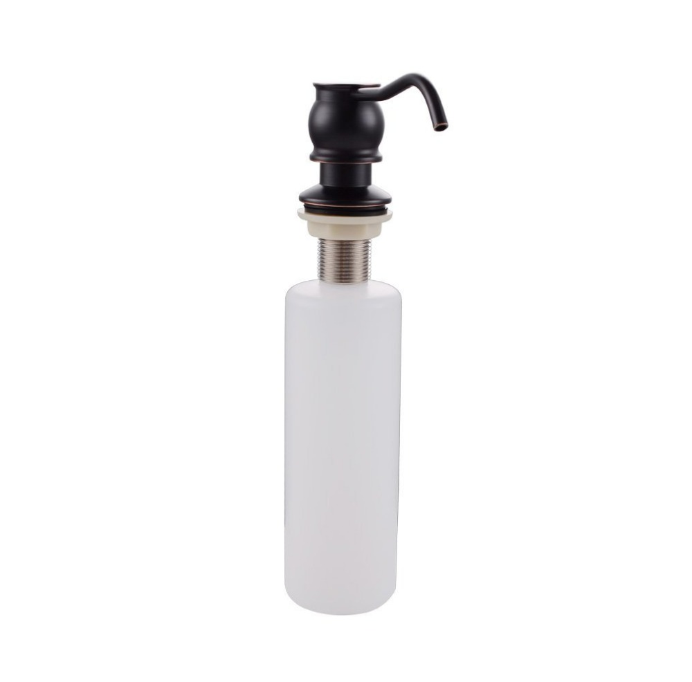Oil Rubbed Bronze Kitchen Sink Liquid Soap Dispenser with Brass Pump and PP Bottle image