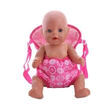 ZWSISU 2 Styles Portant un poupée rose sac à dos pour 43 cm zappe Poupée  accessoires fd9db2f121c