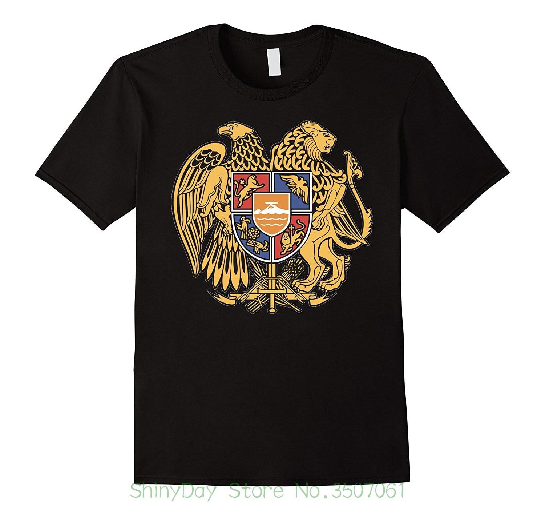 Fashion Men T Shirts Round Neck Armenia Coat Of Arms T ...