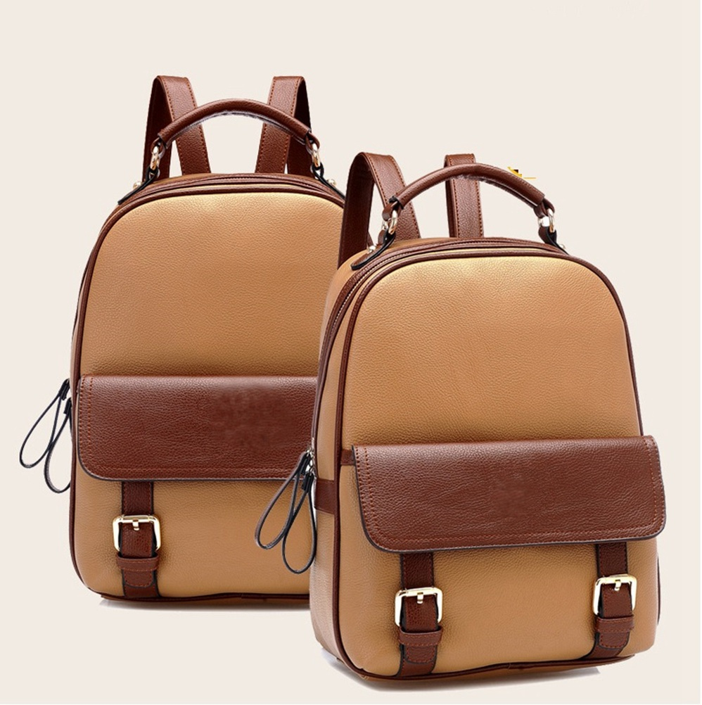 Itemship Bags Backpack Women's Leather Backpack Leisure Waterproof ...