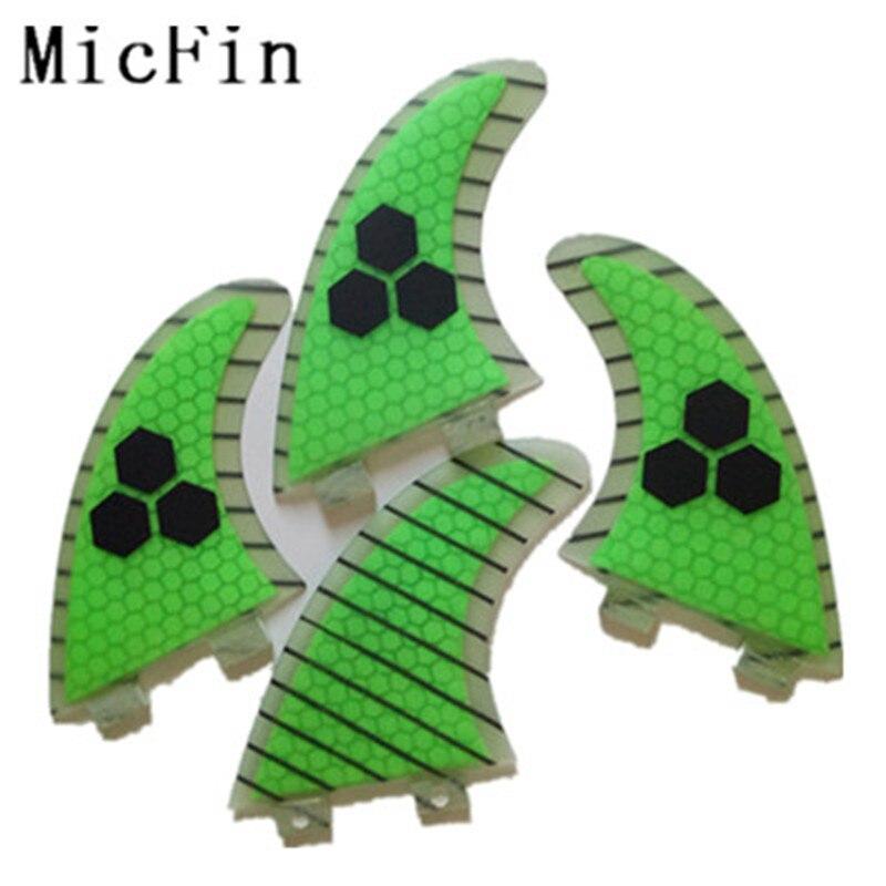 Haute qualité FCS ailettes avec fiber de verre de miel peigne matériel pour surf nageoire M-taille 4 pcs/ensemble