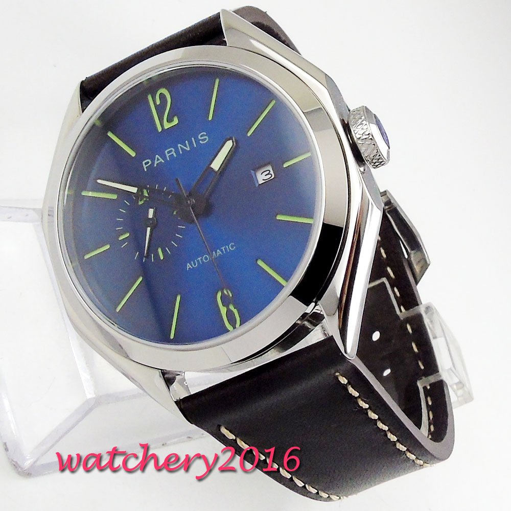 PARNIS Automatic Diver Watch Luminous Hands Metal Mechanical Watches 21 Jewels Miyota  Blue Dial Sapphire Glass 2018 New ArrivePARNIS Automatic Diver Watch Luminous Hands Metal Mechanical Watches 21 Jewels Miyota  Blue Dial Sapphire Glass 2018 New Arrive