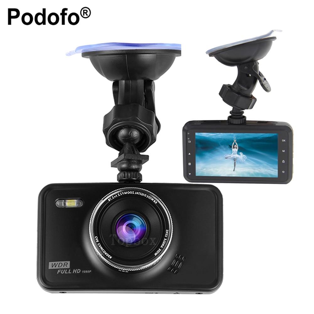 Podofo 3 Car font b Camera b font DVR Novatek 96220 Dvrs Dashcam Parking Recorder Video