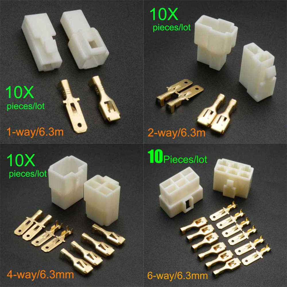 80 Pcs DIN Jack Connector 6 Pin with Plastic Handle Skywalking