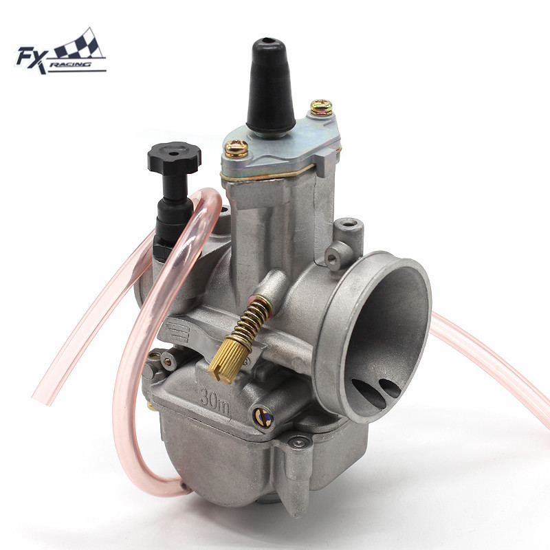 High Quality PWK 30mm Power Jet Motorcycle Dirt Bike Pitbike Carburetor Carburador For 150CC - 250CC ATV Scooters Motorbike original 26mm mikuni carburetor for cbt125 cb125t cbt250 ca250 carburador de moto
