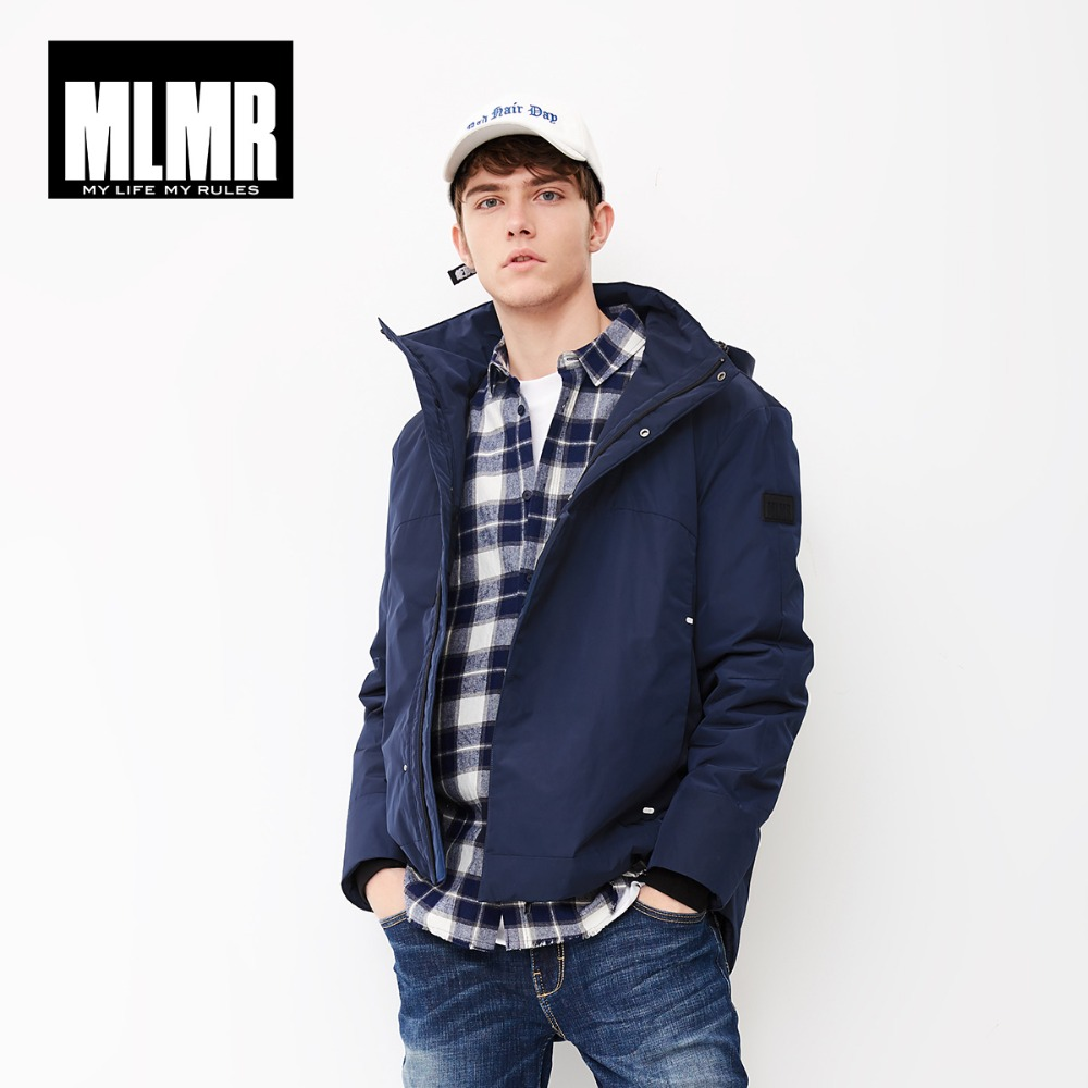 MLMR Men's Hooded Parka Coat Hoodie Jacket JackJones New Brand Menswear 218309501
