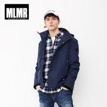 Mlmr casaco com capuz parka casaco com capuz jaqueta jackjones nova marca masculina 218309501