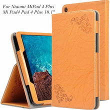 Original Book Folio Smart Case For Xiaomi Mi Pad 4 Plus Mipad4 10.1'' Tablet stand cover for Mi Pad4 mipad 4 plus + stylus+film smart case for mi pad4 mipad 4 stand case for xiaomi mi pad 4 mipad4 8 0 inch tablet pc protective cover cases screen film gifts