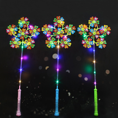 Toy Luminous-Windmill 6-Fans With Lights Cultivate Children's Visual-Senses One-Hand-Holds