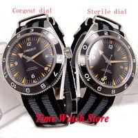 41 мм corgeut мужские часы черный циферблат сапфировое стекло светящийся керамический ободок 5ATM MIYOTA 821A Автоматические наручные часы мужские Cor1