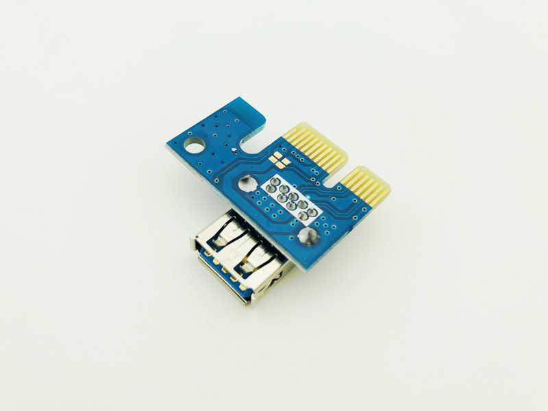 Wysokiej prędkości USB3.0 Port PCI-E1X PCIe PCI Express 1x przedłużacz Riser karty Adapter dla górnictwa