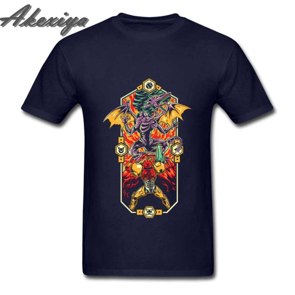 Epic Super Metroid Мужская Игра престолов Футболка с принтом рок черный взрослый натуральный хлопок Funky Metroid Мода 2018 футболка оверсайз