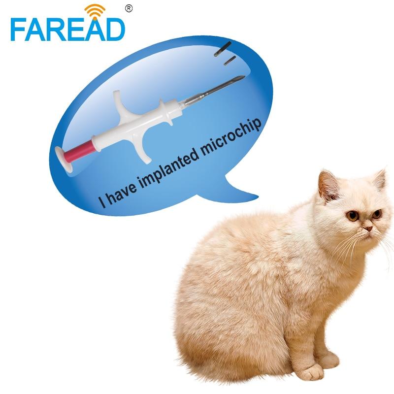 Купить с кэшбэком x100pcs 134.2KHz pet microchip for dog FDX-B 2.12*12mm chip animal ID implant syringe cat fish identification vet shelter usage
