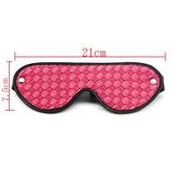 2017 Smspade pink PU eye blindfold for bondage adult play bondage adjustable blinfold for sleeping with wide grid sex toys