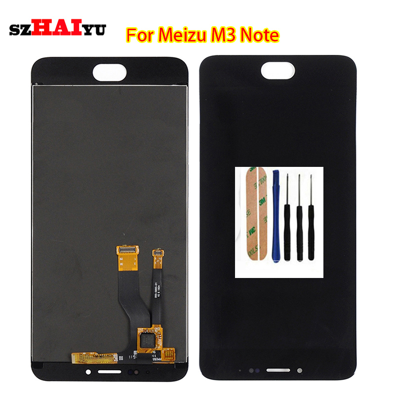 ФОТО Tested Good Working Black LCD Display+Touch Screen For Meizu M3 Note M68H M68Q / L681H with Digitizer Assembly Tools