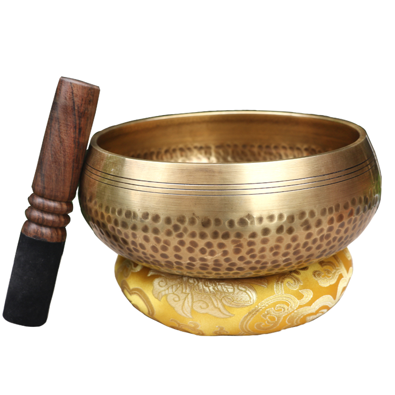 Tibetan Copper  Bowl Singing Bowl Buddhist Decorative Wall Dishes Home Decoration Decorative Wall Dishes Tibetan  Handmade Manuf