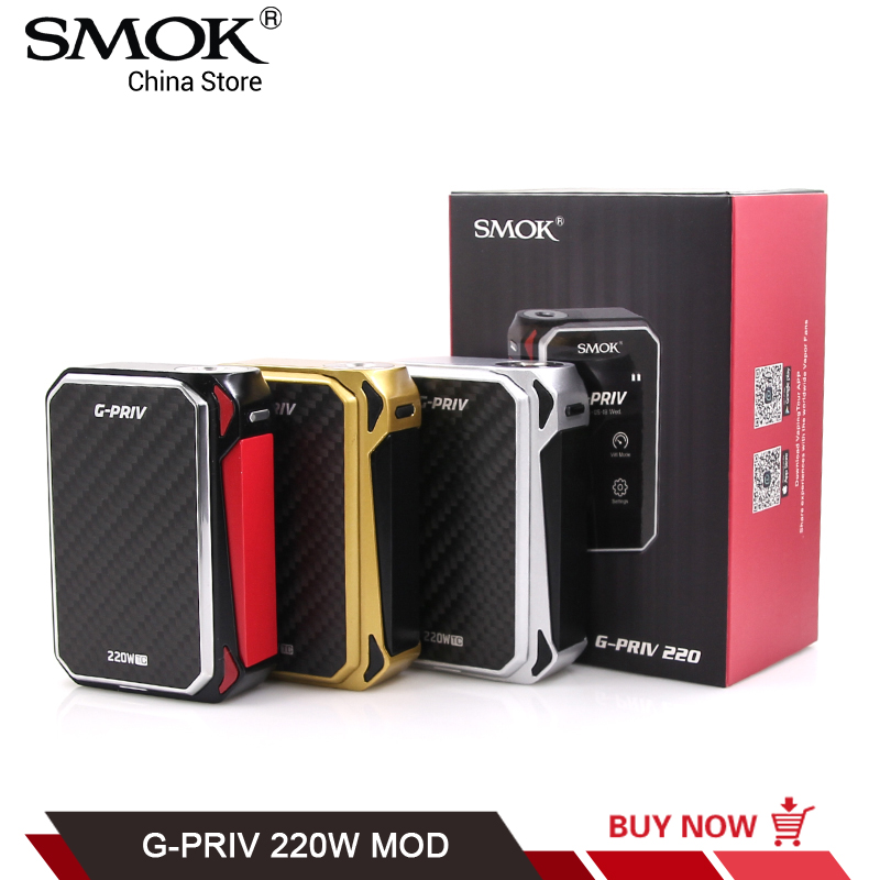 Original SMOK G-PRIV TC Mod Touch Screen Electronic Cigarette GPRIV 220W fit for TFV8 Big Baby VS SMOK G-PRIV 2 T-PRIV Procolor стоимость