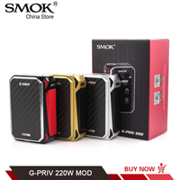 Original SMOK G PRIV TC Mod Touch Screen Electronic Cigarette GPRIV 220W fit for TFV8 Big Baby VS SMOK G PRIV 2 T PRIV Procolor