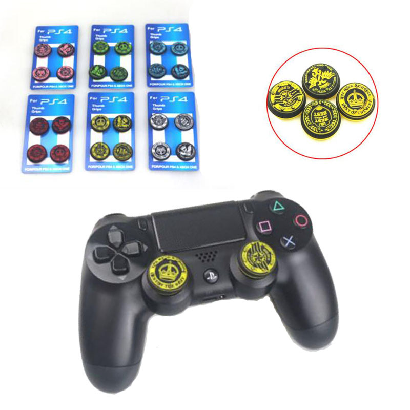New Crown Gamepad Thumb Stick Grip Caps Joystick Cover For Sony PS3 PS4 Playstation Dualshock 3/4 Xbox One 360 Controller