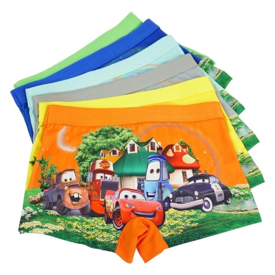 4pcs/lot Cartoon Underpants Quality Car Pants Catamite Panties Cars Baby Boys Underwear Kid Panty