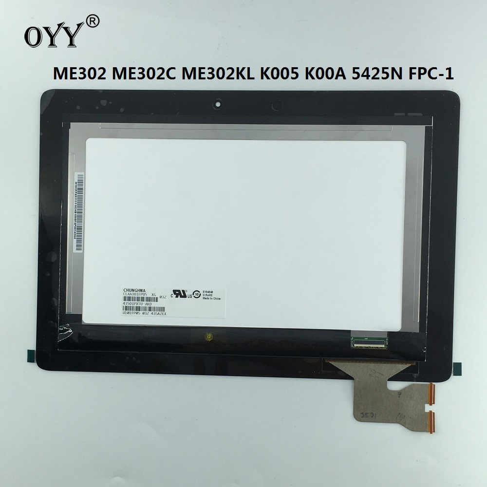 LCD Display Touch Screen Matrix Digitizer Tablet Assembly Replacement Parts For ASUS MeMO ME302 ME302C ME302KL K005 K00A 5425N