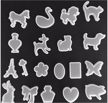 New 19Pcs/set Holes Animal Bow heart Key Waterdrop Silicone perfume bottle  Mold Mould Resin Jewelry Making DIY Craft H199