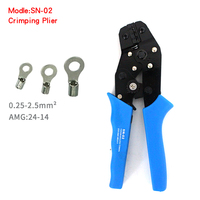 Hight Quality Professional Ratchet SN 02 0 25 2 5mm2 24 14AWG Crimping Pliers Terminal Clamps