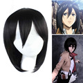 Paidian Attack on Titan Mikasa Ackerman Short Black Anime Cosplay Wig Synthetic Hair Costume Party Wigs