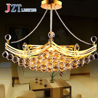 T Traditional European Style Crystal Foyer Lamp Ship Shape Artistical Lights For Dining room Golden 6 LED bulbs Best price