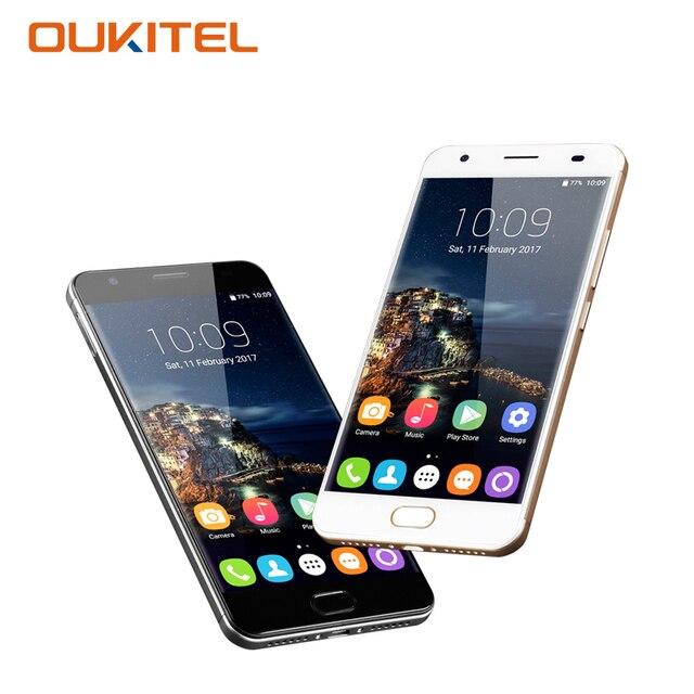 OUKITEL K6000 Plus 5.5 Inch Smartphone Android 7.0 MTK 6750T Octa Core 4G RAM 64G ROM 8+16MP Fingerprint Mobile Phone Cellphone