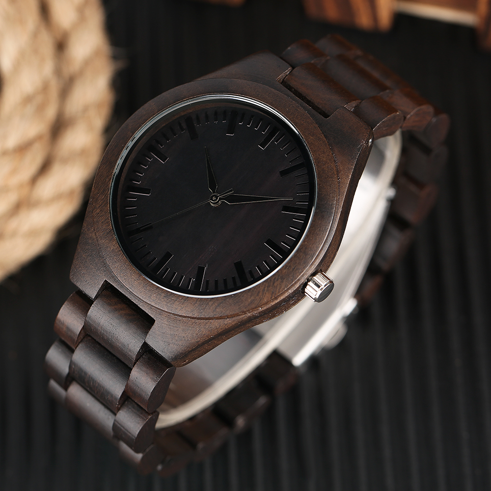 YISUYA Nature Bamboo Wood Creative Watches Men Casual Sport Wooden Quartz Wrist Watch Men Women Flod Clasp Band Bangle Clock in Quartz Watches from Watches