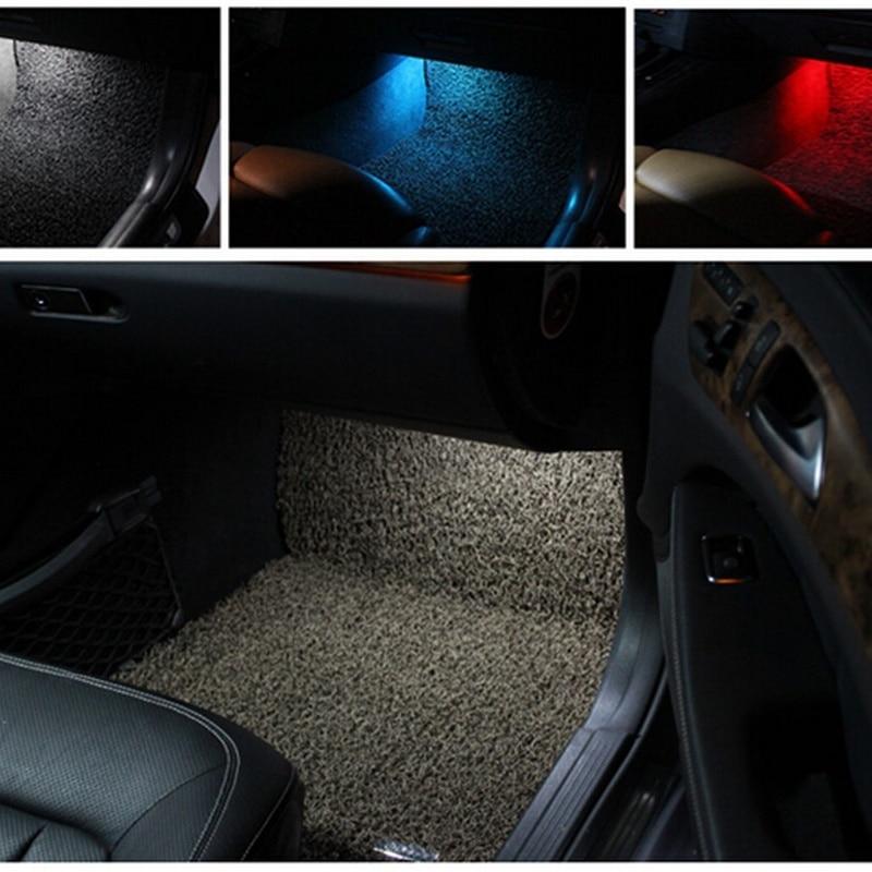 Tcart 4pcs Error Free Car LED Footwell Light Pathway Lamps For Mercedes w176 w246 w166 x166 w221 w212 w204 w205 w218 Accessories
