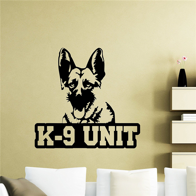 Dog Wall Decal Police Animal Pets Poster Vinyl Sticker Living Teen ...