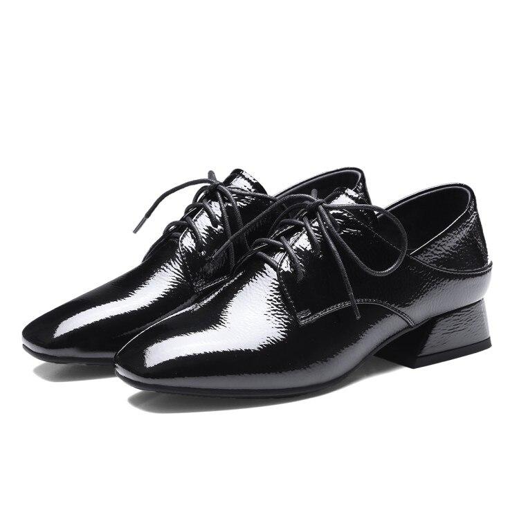 Moda Llegada Bajo blanco Nueva Tacones Negro Bombas Zapatos Casual Cuadrado Plataforma Tacón De marrón Mujer Damas {zorssar} 2018 Alto HqEZtt