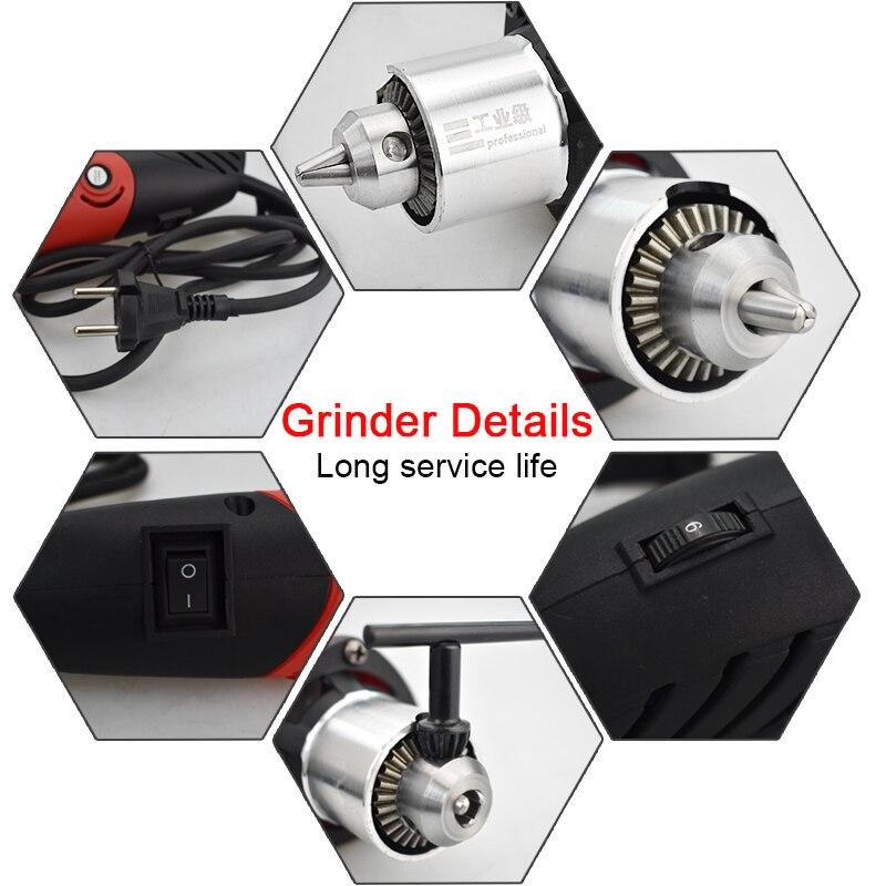 480W wiertarka elektryczna szlifierka Mini wiertarka elektronarzędzia zestaw Dremel obrabiarki akcesoria narzędzia Mini elektryczny obrotowy Bit 6mm długopis
