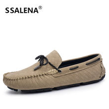 Men Round Toe Gingham Casual Shoes Male Leather Walking Boat Shoes Men  Slip-On Anti-Slip Loafers High Quality AA52103 6cc9acdfd7a8