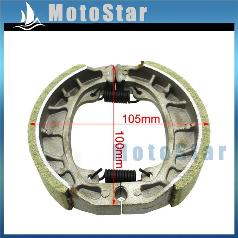 cg125 105mm brake drum shoe for baja motorsports mini bike mb165 mb200 gy6  50cc 125cc 150cc scooter moped