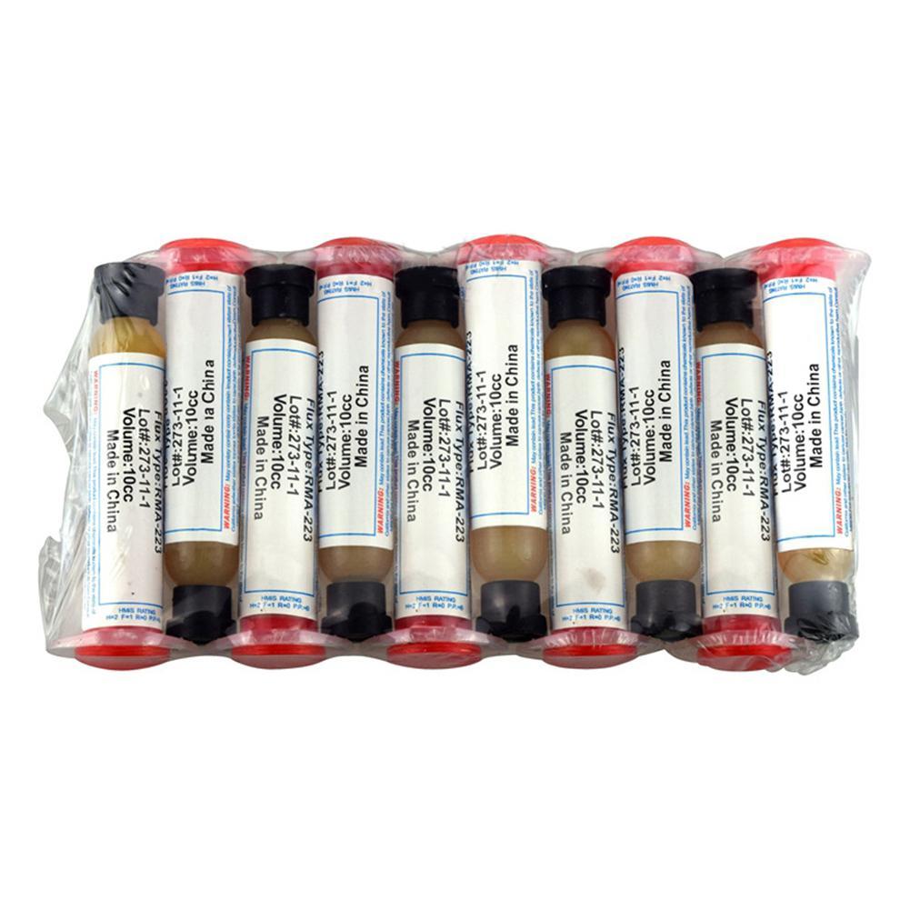 10 CC Soldering Paste RMA-223 PCB PGA BGA SMD With Flexible Tip Syringe Solder Paste Flux Grease Repair Solde Dropshipping