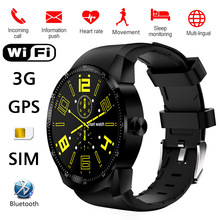 K98H Smart Watch IPS Screen 3G SIM WiFi Heart rate Mobile For Android AND IOS Smartwatch GPS Fitness Tracker Watchproof WhatsApp