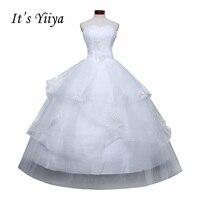 Darmowa Wysyłka Nowy 2016 suknie Ślubne Handmade Vestidos De Novia suknia Ślubna Dla Nowożeńców Biały Princess Bride sukienki Ślubne D64