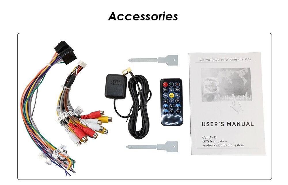 Gratis camera een 1 din radio auto dvd speler gps navigator tape recorder autoradio cassette speler auto radio gps multimedia dab bt - 2