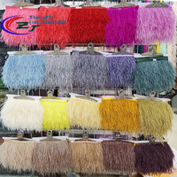 Wholesale 5 10 meters Natural Ostrich Feathers Trim Feather Ribbon 10 15cm Feather Fringe For Wedding Dress/Party Skirt Decorate