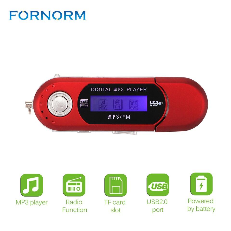 Портативный мини usb flash MP3-плееры ЖК-дисплей Экран Поддержка флэш 32 ГБ TF слот для карты цифровой MP3 плеер FM Радио