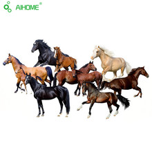 10 Beautiful Running Horses Wall Stickers Removable DIY Living Room Bedroom Horses Wall Sticker High Quality Mural Art 50*70cm