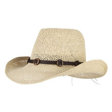 Vintage sombreros de verano para hombres playa sombrero de vaquero con  cinturones de ala ancha de paja de sol masculino a prueba. 6186fee555a