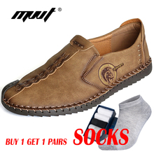 adf1e86646b9 Classic Comfortable Men Casual Shoes Loafers Men Shoes Quality Split  Leather Shoes Men Flats Hot Sale