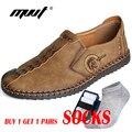 Clásico de los hombres cómodos zapatos casuales mocasines zapatos de los hombres zapatos de calidad de cuero de los zapatos de los hombres de los zapatos de Venta caliente mocasines más zapatos de tamaño