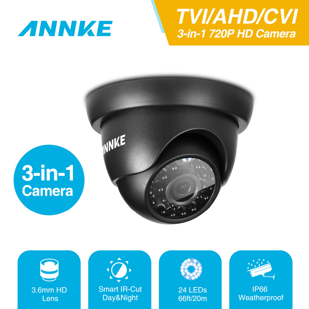 ANNKE AHD TVI CVI 3 IN 1 Dome Cameras  1280TVL Outdoor Fixed Dome Cameras With IP66 Weatherproof Day/Night Vision 4 in 1 ir high speed dome camera ahd tvi cvi cvbs 1080p output ir night vision 150m ptz dome camera with wiper