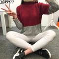 Women Sweater 2016 Winter New Fashion Patchwork Pullovers High Quality Knitted Sweaters Warm Pull Femme Sweter Mujer SZQ006