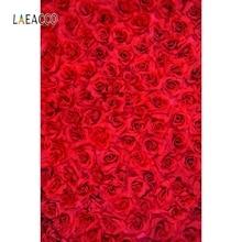 лучшая цена Laeacco Wedding Occasion Backdrop Rose Flower Portrait Photography Background Customized Photographic Backdrops For Photo Studio